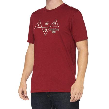 100% 100% T-Shirt Vision Rood