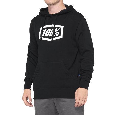 100% 100% Hoodie Sweater Essential Black