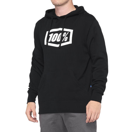 100% 100% Hoodie Sweater Essential Zwart