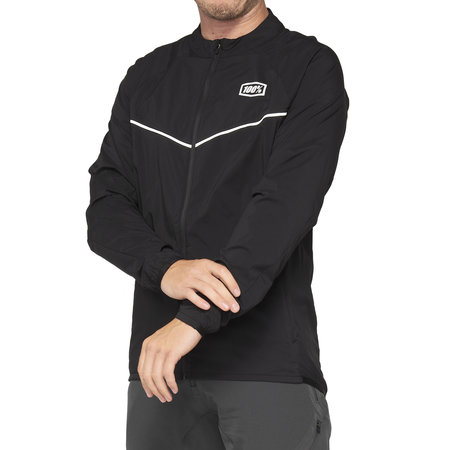 100% 100% Jacket Corridor Stretch Windbreaker Black