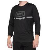 100% 100% MTB Fietsshirt Driekwart Mouwen Airmatic Zwart