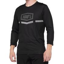MTB Fietsshirt Driekwart Mouwen Airmatic Zwart