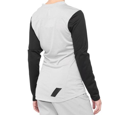 100% 100% Women MTB Jersey Long Sleeves Ridecamp White