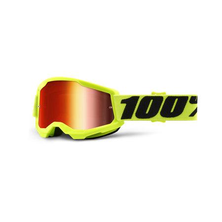 100% 100% Jeugd Crossbril MTB Strata 2 met Mirror Lens