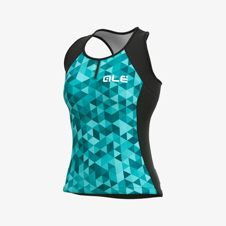 ALE Ale Women Jersey No Sleeves Solid Triangles