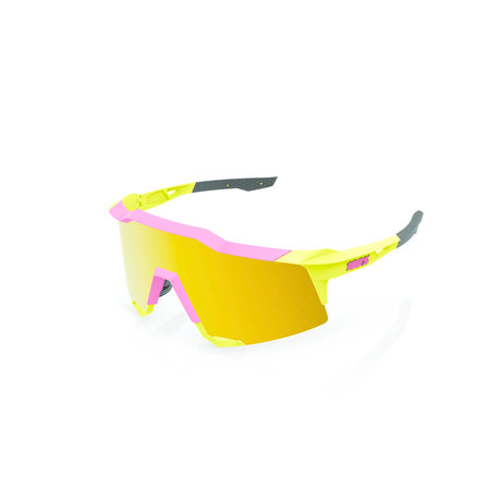 100% 100% SPEEDCRAFT® Matte Washed Out Neon Yellow Flash Gold Mirror Lens + Clear Lens Included