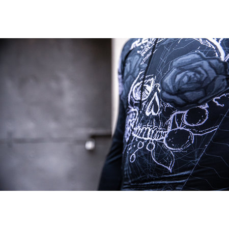 ALE Ale Fietsshirt Lange Mouwen PR-R Skull