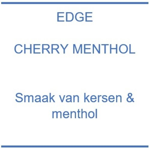 Edge Cherry Menthol