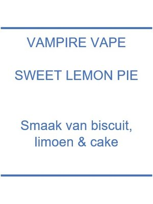Vampire Vape Sweet Lemon Pie