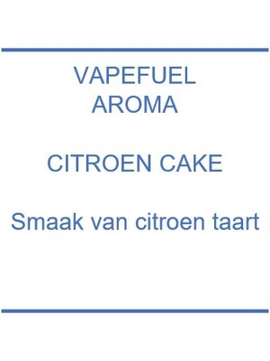 Vapefuel Aroma - Citroencake