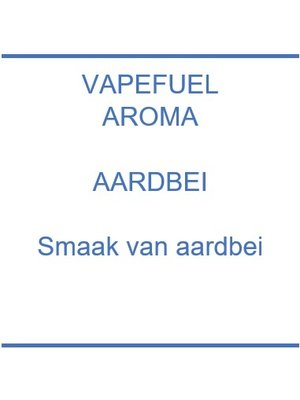 Vapefuel Aroma - Aardbei