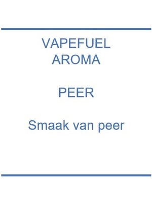 Vapefuel Aroma - Peer