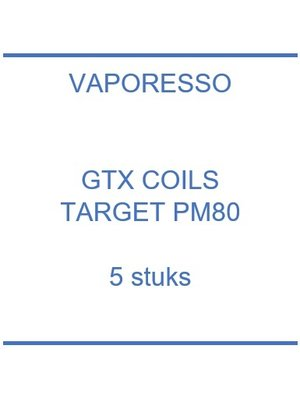 GTX coils Target PM80 Pod