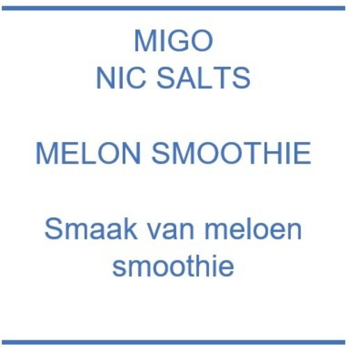 Nic Salts Melon Smoothie