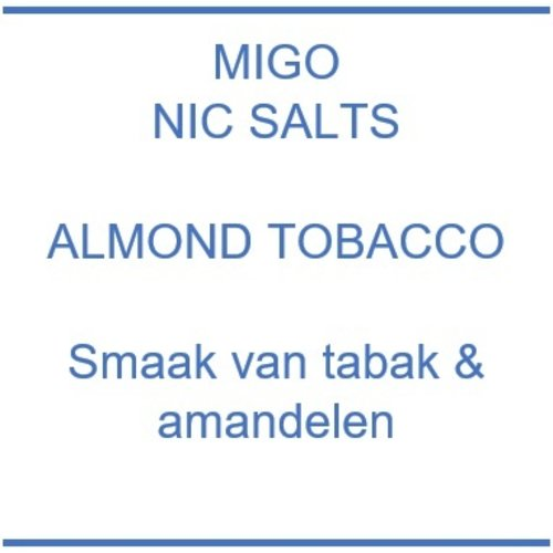 Nic Salts Almond Tobacco