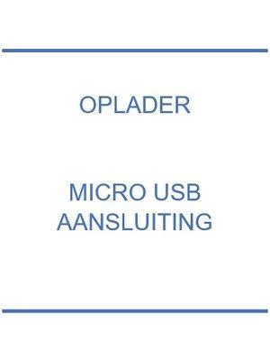 Oplader micro USB aansluiting
