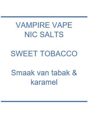 Sweet Tobacco Nic Salts