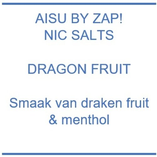 Zap! Juice Aisu line Dragon Fruit Nic Salts