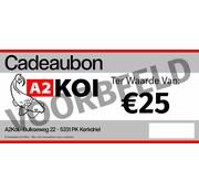 A2KOI €25,- Cadeaubon A2KOI