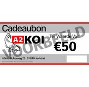 A2KOI €50,- Cadeaubon A2KOI