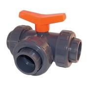 Effast Kogelkraan PVC 3-weg t-boring lijm 50mm