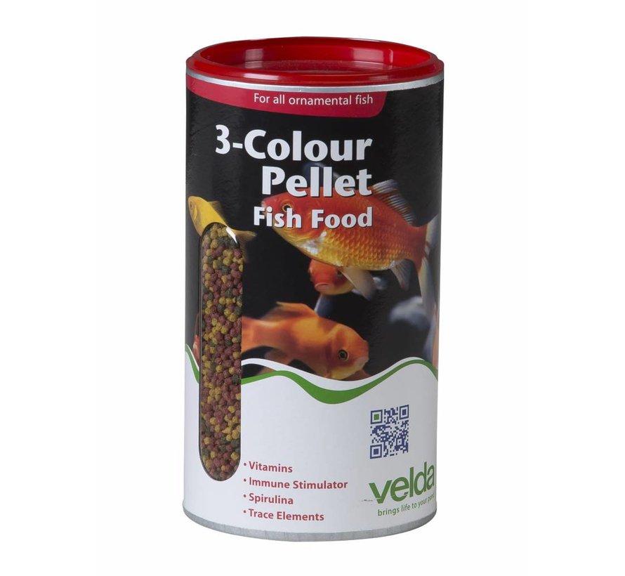 Velda 3-Colour Pellet Fish Food - 470 Gram