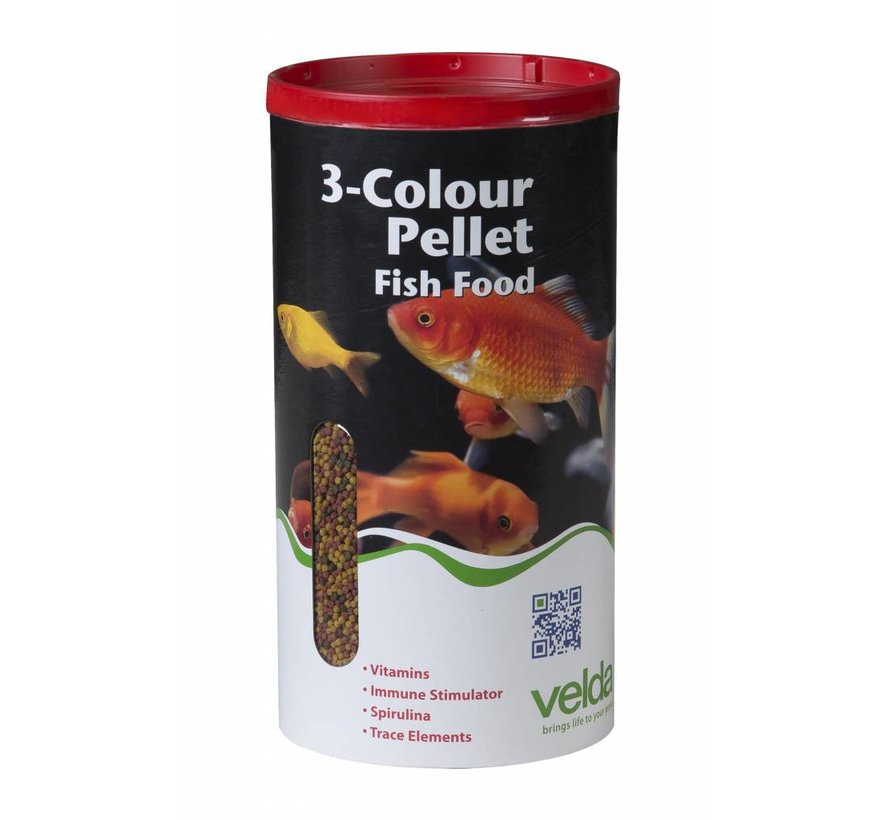Velda 3-Colour Pellet Fish Food - 1375 Gram