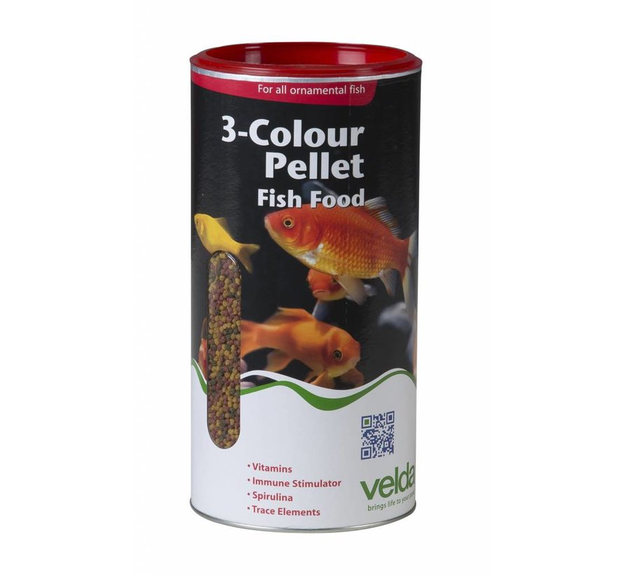 Velda 3-Colour Pellet Fish Food - 880 Gram