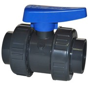 Effast Kogelkraan PVC Lijm met dubbele wartel 16mm