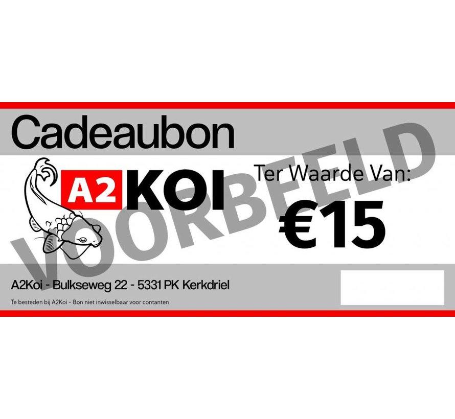 €15,- Cadeaubon A2KOI