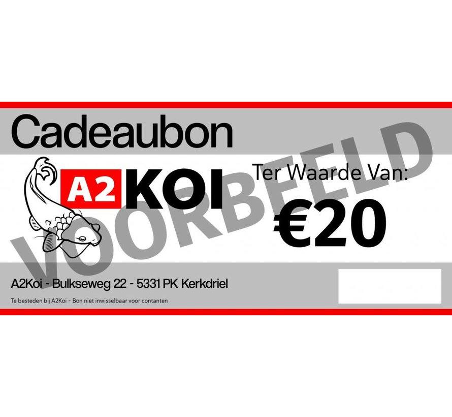 €20,- Cadeaubon A2KOI