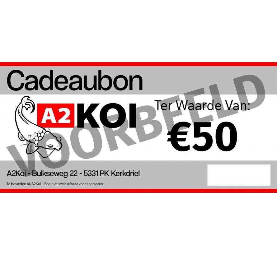 €50,- Cadeaubon A2KOI