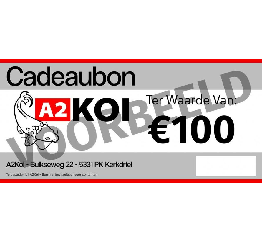 €100,- Cadeaubon A2KOI