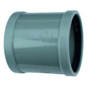 PVC Overschuifmof 2 x manchet 75mm Wavin