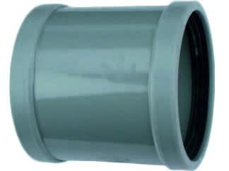 Overschuifmof 2 X Manchet 75mm | Pvc | Wavin