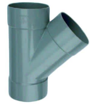 T-Stuk 45° 3 X Mof 125mm | Pvc | Wavin