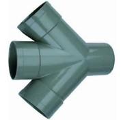 Wavin PVC Dubbel T-Stuk 45° 3 x mof/ 1 x spie 110mm Wavin