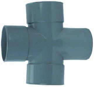 Dubbel T-Stuk 88° 3 X Mof/ 1 X Spie 110mm | Pvc | Wavin