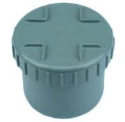 Wavin PVC Eindstuk met schroefdeksel 125 mm Wavin