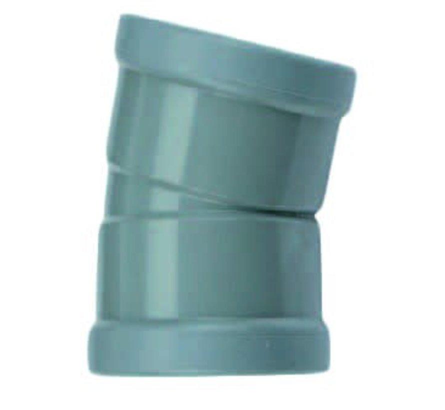 PVC Bocht 15° manchet - 2 x mof 110 mm Wavin