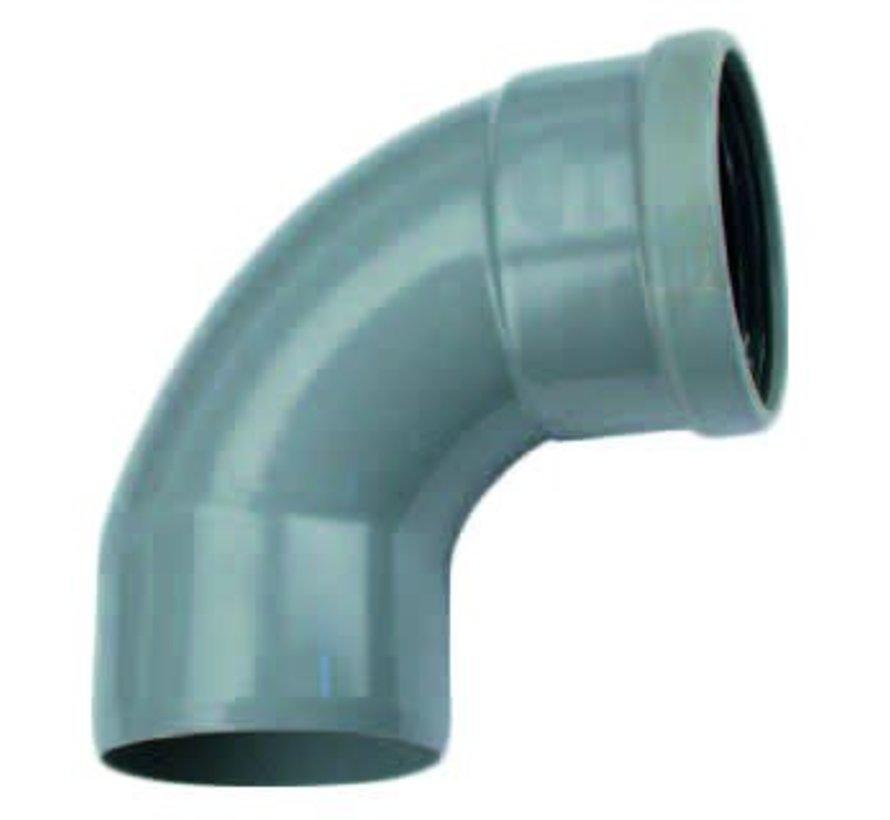 PVC Bocht 88° manchet - mof x spie 110 mm Wavin