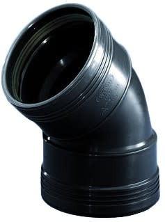 Bocht 45° 2 X Manchet Zwart 40mm Wavin | Wavin
