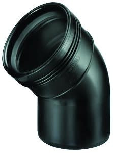 Bocht Pp 45° Spie X Manchet Zwart 90mm Wavin | Wavin