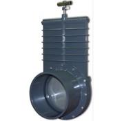 Valterra Valterra PVC Schuifkraan 200 mm met RVS Schuif