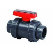 AquaKing Red Label Kogelkraan PVC Dubbele wartel 25mm Aquaking