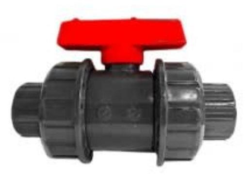 AquaKing Kogelkraan PVC Dubbele wartel 20mm Aquaking