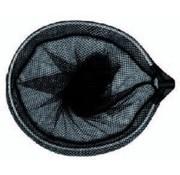 Aquaforte Ovaal schepnet 33(B) x 40(L) cm fijnmazig zwart