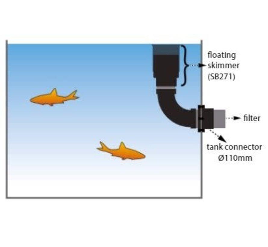 Drijvende skimmer met korf Ø200 van Aquaforte