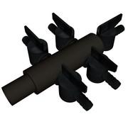 Kunsstof Luchtverdeler 9mm - 7 kraantjes