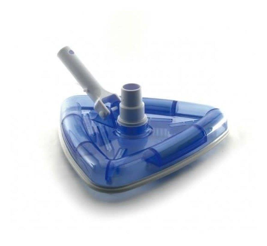 Aquaforte zwembad/vijverstofzuiger XL complete set met telescoopsteel, aanzuigbuis, bodemzuiger en 10 meter aanzuig- en afvoerslang